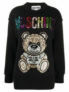 Moschino jewel-embellished Teddy jumper - Black