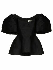 Shushu/Tong gathered puff sleeve blouse - Black