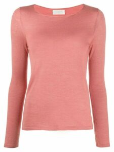 Zanone round neck knit top - PINK