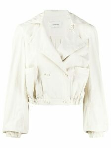 Lemaire cropped double breasted jacket - NEUTRALS