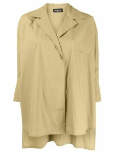 Roberto Collina oversized 3/4 sleeves shirt - NEUTRALS