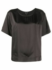 Giorgio Armani loose-fit blouse - Grey