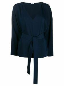 P.A.R.O.S.H. waist-tied long sleeve blouse - Blue