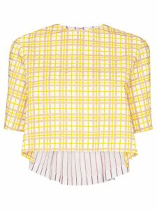 Rosie Assoulin Party in the Back checked shirt - Yellow