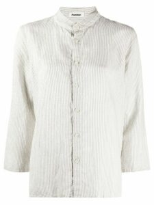 Plantation boxy fit striped shirt - White