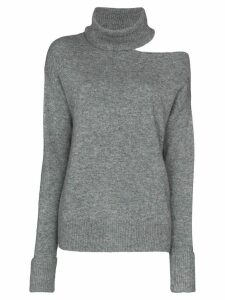 PAIGE Raundi cutout wool-blend jumper - Grey