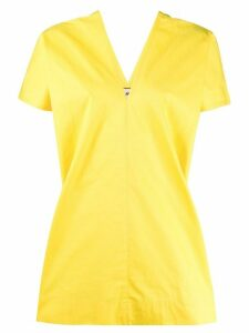 Plan C boxy short sleeve blouse - Yellow