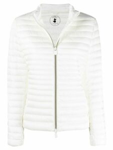 Save The Duck logo patch padded jacket - White
