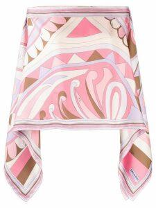 Emilio Pucci abstract print tunic top - PURPLE
