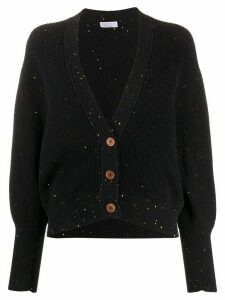 Brunello Cucinelli ribbed sequin-embellished cardigan - Black