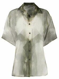 Acne Studios magazine-print blouse - Green