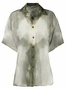 Acne Studios sheer button-up blouse - Green