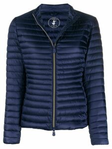 Save The Duck logo patch padded jacket - Blue
