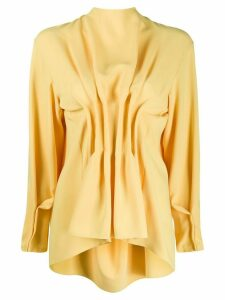 A.W.A.K.E. Mode gathered long sleeve blouse - Yellow