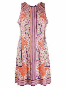 Hale Bob paisley sleeveless shift dress - ORANGE
