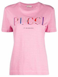 Emilio Pucci logo printed T-shirt - PINK