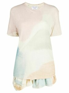 Collina Strada colour-block peplum T-shirt - PINK