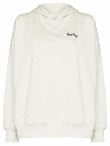 Ashish embroidered cotton-blend hoodie - Grey
