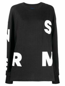 Simon Miller alphabet print sweatshirt - Black