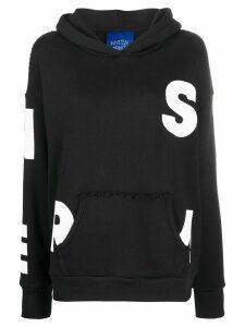 Simon Miller alphabet print hoodie - Black