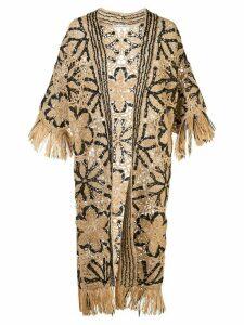 Oscar de la Renta woven floral cardigan - NEUTRALS