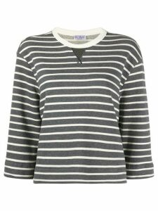Brunello Cucinelli striped boxy-fit sweatshirt - Grey