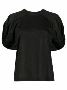 Marques'Almeida gathered short sleeve T-shirt - Black