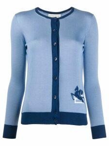 Etro fine knit long sleeve cardigan - Blue
