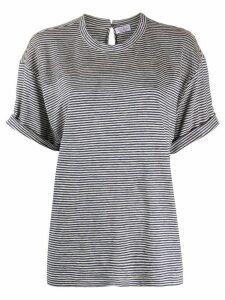 Brunello Cucinelli monili-embellished striped T-shirt - Blue