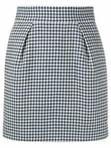 Alexandre Vauthier houndstooth patterned high-waisted skirt - Blue