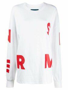 Simon Miller alphabet print sweatshirt - White