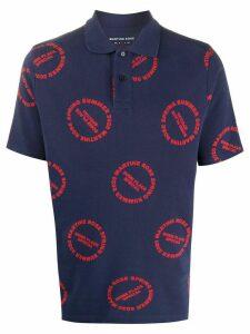 Martine Rose logo print polo shirt - Blue