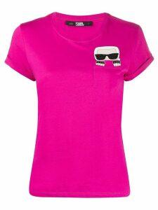 Karl Lagerfeld logo print T-shirt - PINK