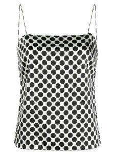 Alexandre Vauthier polka dot print open back top - White