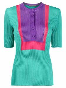 Alberta Ferretti ribbed knit top - Green