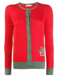 Etro fine knit long sleeve cardigan - Red