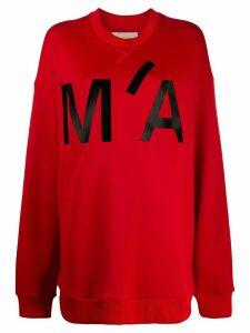 Marques'Almeida oversized monogram print sweatshirt - Red