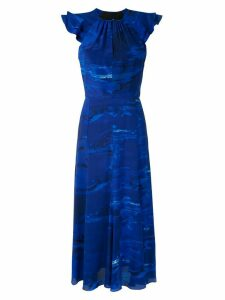 Andrea Marques ruflled printed dress - Blue