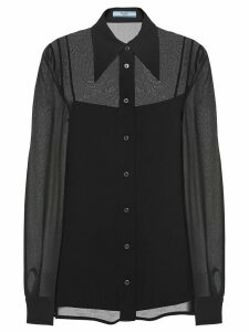 Prada sheer panels shirt - Black