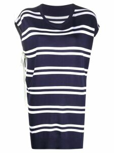Mm6 Maison Margiela striped pattern T-shirt - Blue
