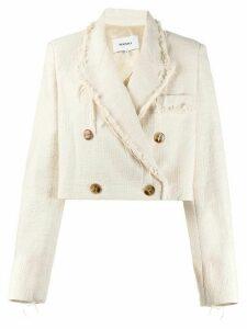 Nanushka Moscot mad-weave jacket - NEUTRALS