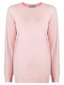 Prada relaxed crew neck jumper - PINK