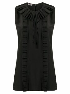 Miu Miu ruffled neck blouse - Black