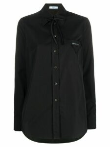 Prada bow detail shirt - Black
