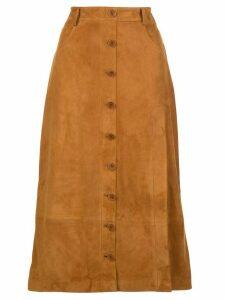 Altuzarra belted slit detail skirt - Brown