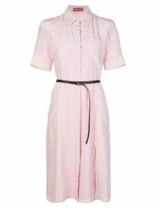 Altuzarra polka dot belted dress - PINK