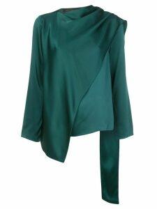 Sally Lapointe draped asymmetric blouse - Green