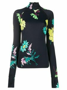 Paul Smith floral print roll neck top - Black