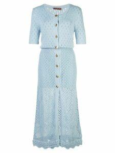 Altuzarra Doyle knitted dress - Blue