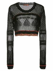 Altuzarra Dovas crochet knit top - Black